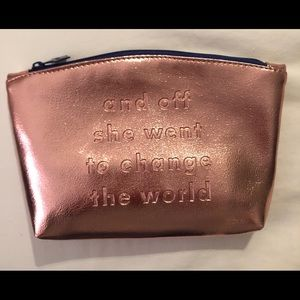 Ipsy March bag w/out cosmetic contents. Rose gold